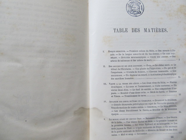 Carte La Mythologie du Rhin et des Contes de la mere-grand , 1862 - X. B. Saintine