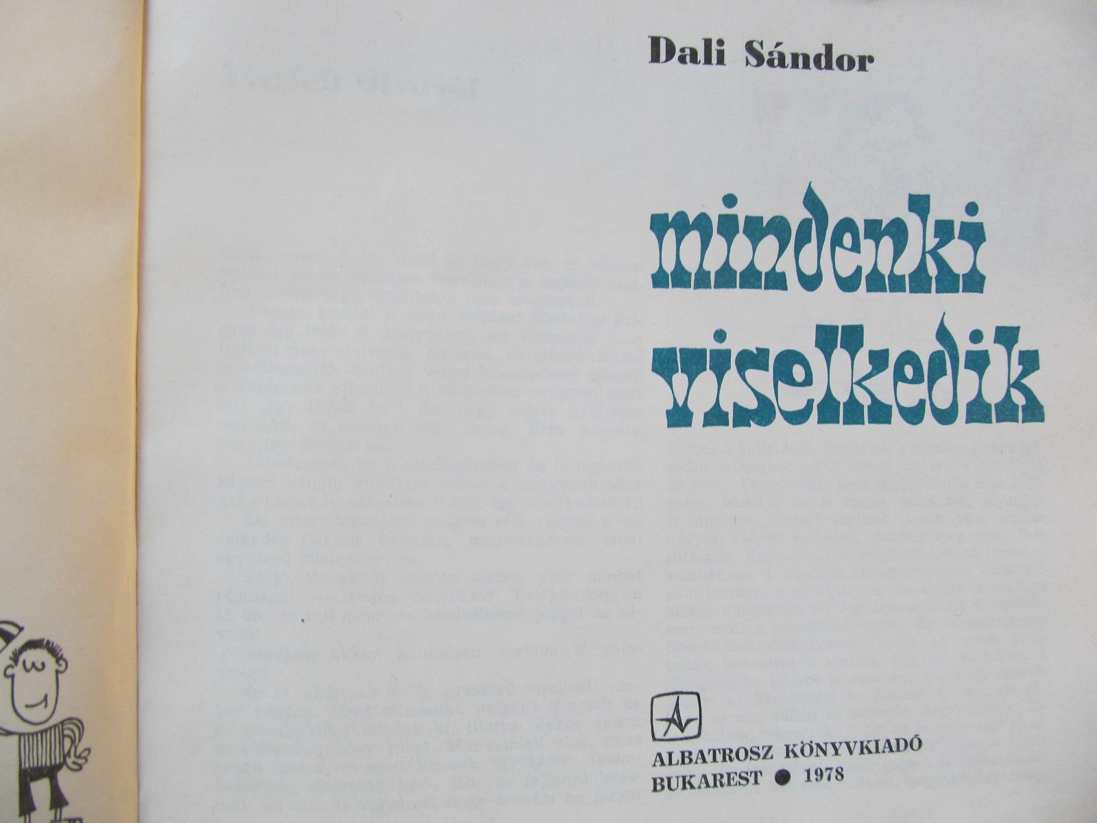 Carte Mindenki viselkedik - Dali Sandor