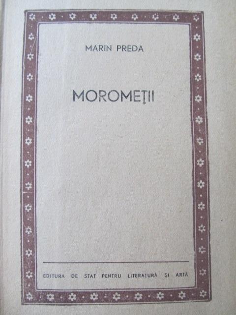 Carte Morometii , 1957 - coperta ilustr. Perahim ( editia II-a) - Marin Preda