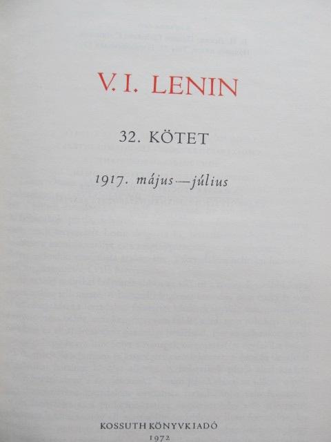 Carte Osszes Muvei (32 kotet) - V. I. Lenin - V. I. Lenin