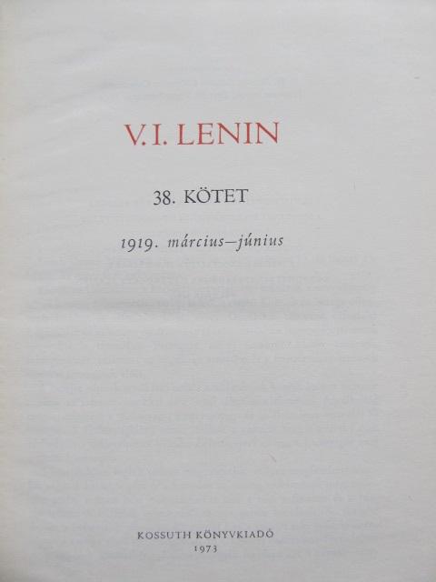 Carte Osszes Muvei (38 kotet) - V. I. Lenin - V. I. Lenin