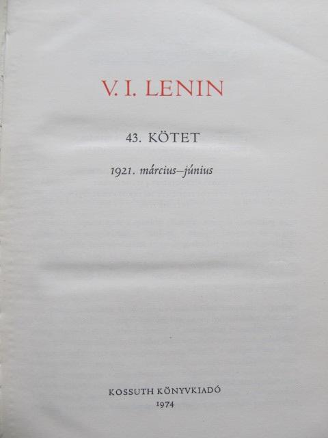 Carte Osszes Muvei (43 kotet) - V. I. Lenin - V. I. Lenin