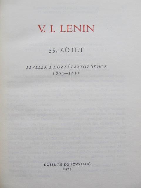Carte Osszes Muvei (55 kotet) - V. I. Lenin - V. I. Lenin