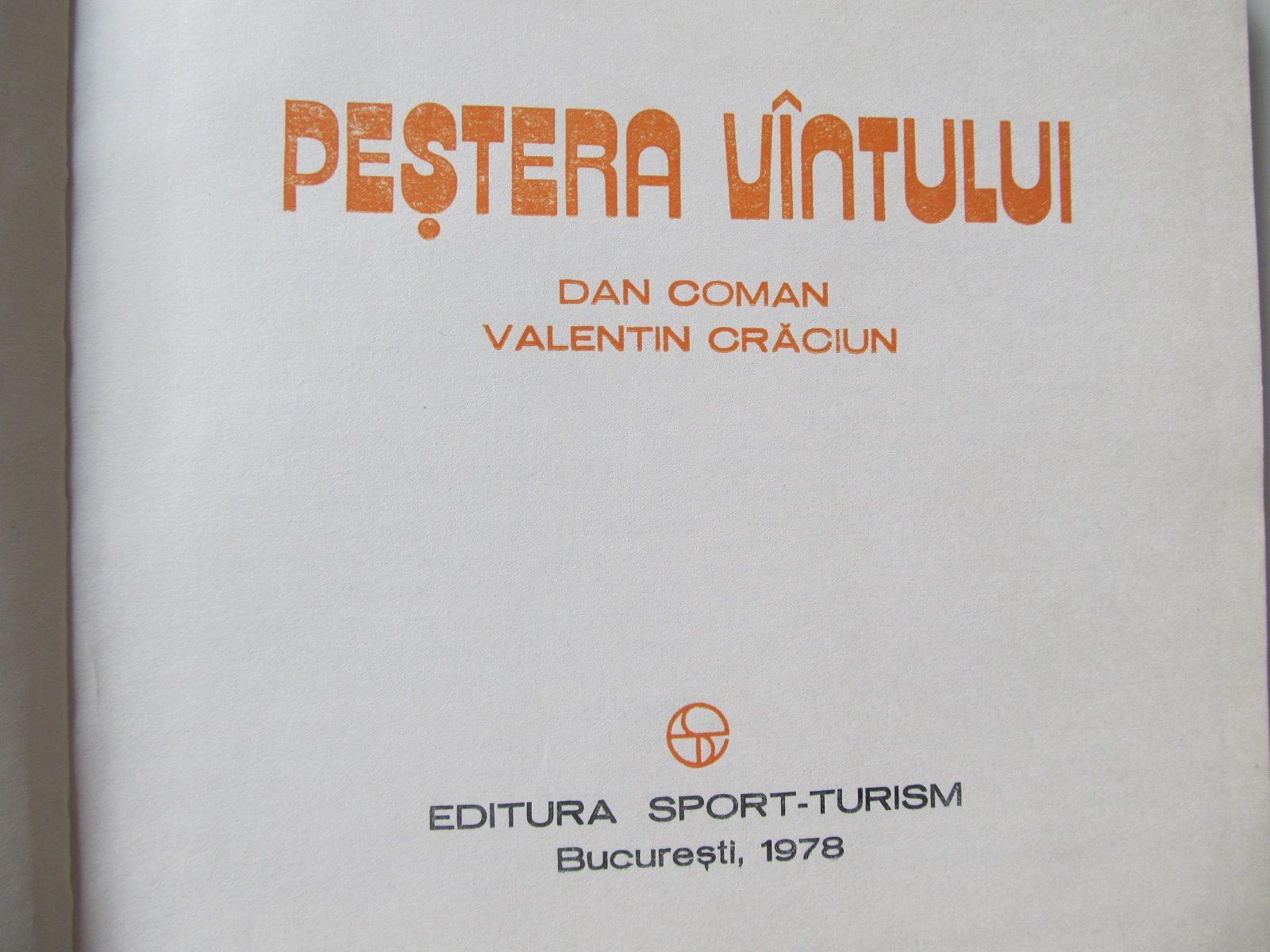 Carte Pestera Vantului (Album) - speologie - Dan Coman , Valentin Craciun