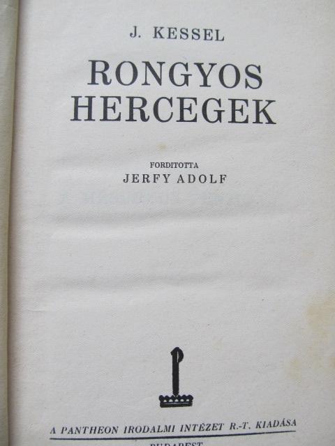 Carte Rongyos hercegek - J. Kessel