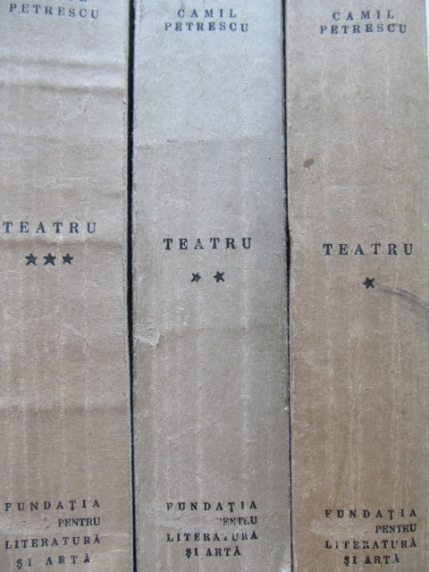 Carte Teatru (3 vol.) , Colectia Editii defenitive , 1946 - Camil Petrescu