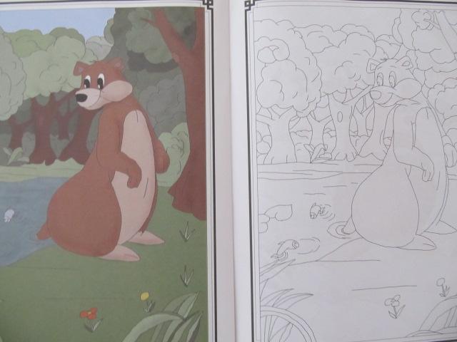 Carte Ursul pacalit de vulpe - carte de colorat - ***