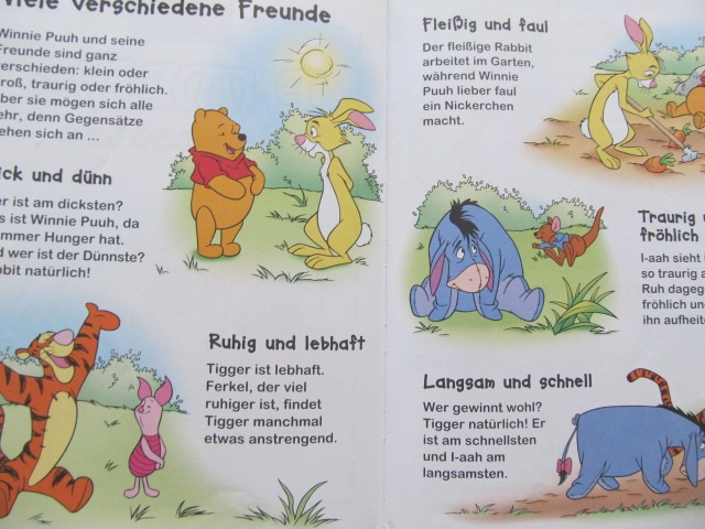 Carte Winnie Puuh - Entdecke Gegensate - ***