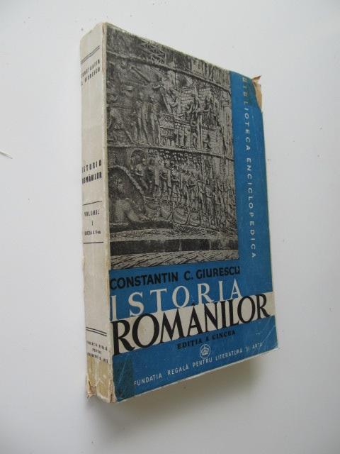 Istoria romanilor (3 vol.) - Vol. I , Vol. II partea 1 , Vol. II partea 2  , - Constantin C. Giurescu | Detalii carte